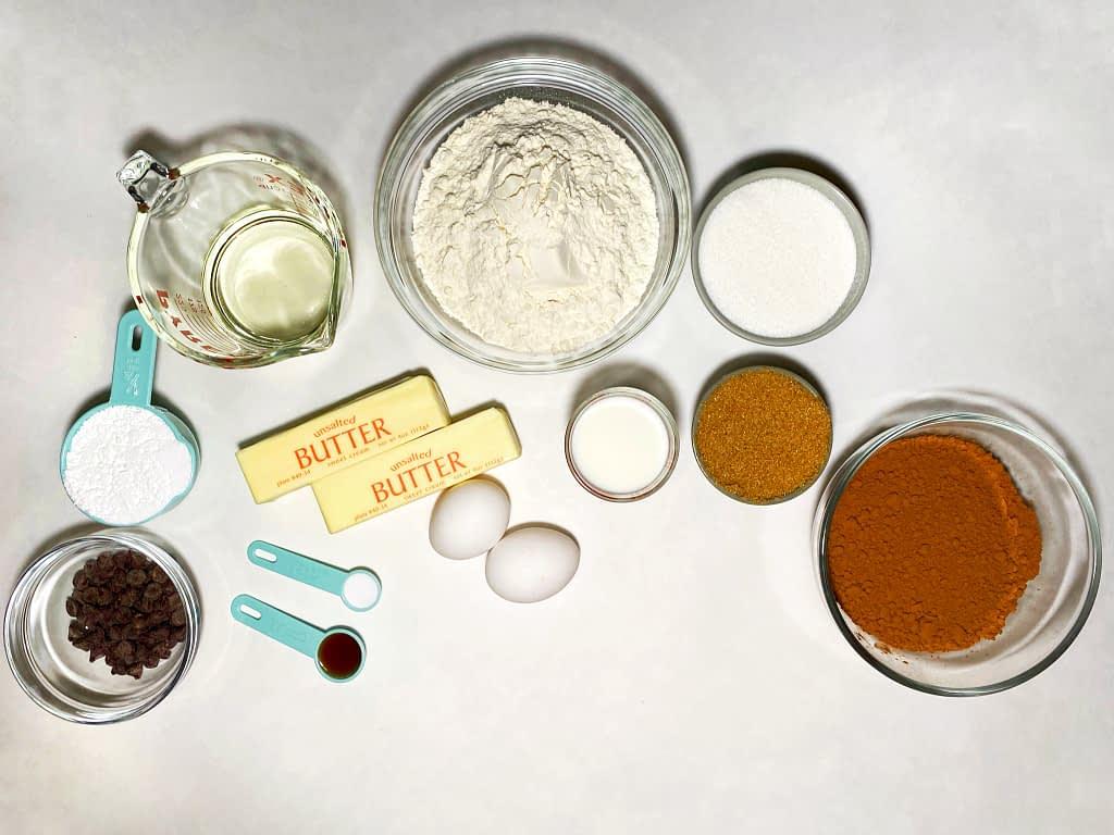 measuring baking ingredients