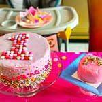 M&M Birthday cake with a funfetti smash cake